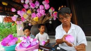 Village de Fleures en papier de Thanh Tien