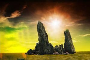 les rochers Phu Tu (Père et Fils)