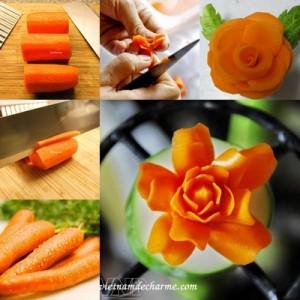 une rose de carotte