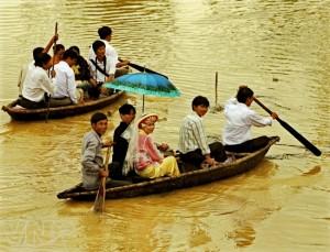 le mariage sur la riviere