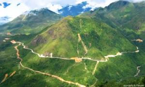 Le Col de Pha Din, reliant la province de Son la et celle de Dien Bien Phu